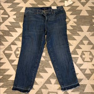 Talbots 5-pocket curvy crop jeans size 6p